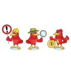 Cardinal Mascot with sign vector image