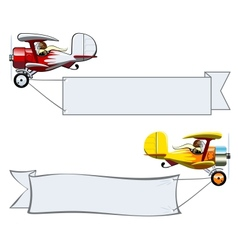 Cartoon Biplane vector image