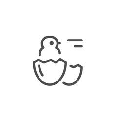 Chick line icon vector
