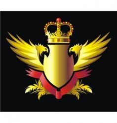 crown and wings vector image