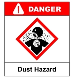 Danger dust hazard sign vector