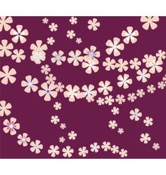 Flower composition pattern vector image