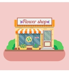 Flower shop facade vector
