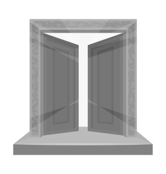 Gates to valhalla icon in monochrome style vector