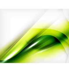 Green summer wave - business eco background vector image vector image