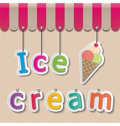 Icecream shopfront sign vector