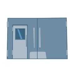 Lift door isolated vector