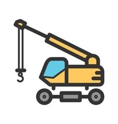 Lifter crane vector