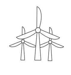 Line windpower technology to environment vector