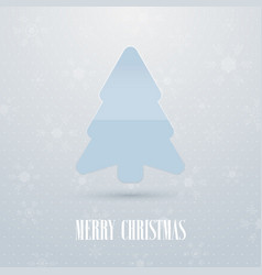 merry christmas background with fir tree vector image