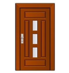 Modern entrance door vector