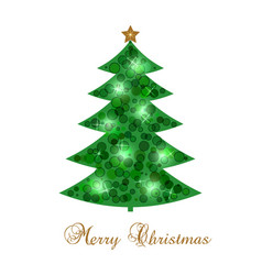 new year s card with christmas tree vector image vector image