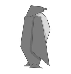 Origami penguin icon cartoon style vector