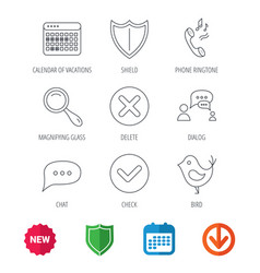 Phone ringtone chat speech bubble icons vector