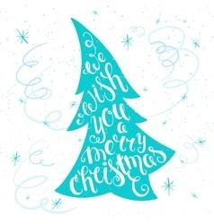 Printable inspiring christmas lettering vector