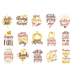 Set of lettering and for vector