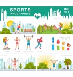 Set sport infographic vector