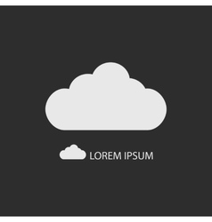 White cloud as logo on dark grey vector