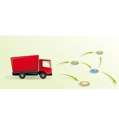 with truck Logistic concept vector image