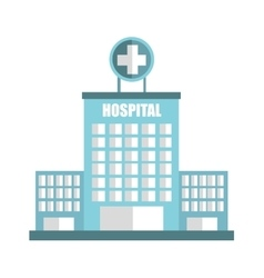 Hospital building emergency icon vector
