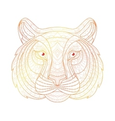 Hand drawn doodle outline tiger vector