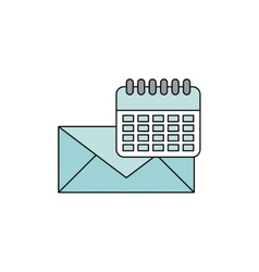 Envelope message with social media icon vector