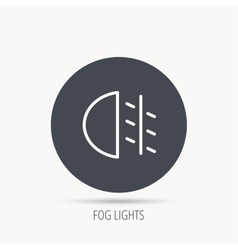 Fog lights icon car beam sign vector