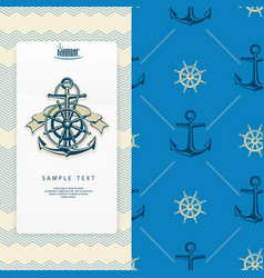 Nautical banner vector