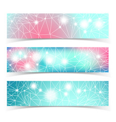 Banner set with multiple lines vector