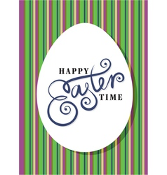 Happy easter greeting card hand lettering vector