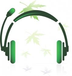 head phone vector image