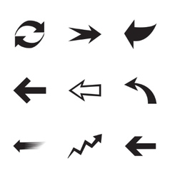 Arrows icons set vector