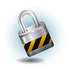 Lock silver vector image