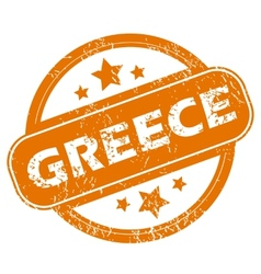 Greece grunge icon vector