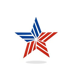 Star stripe america logo vector