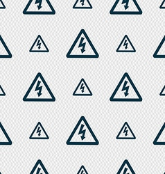 Voltage icon sign seamless pattern with geometric vector