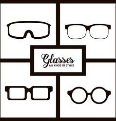 Glasses design vector