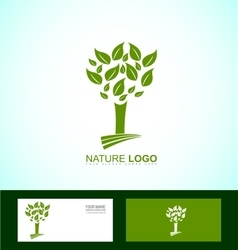 Nature tree bio eco logo vector
