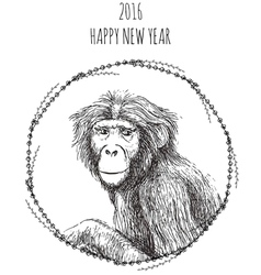 Chinese new year of the monkey 2016 vector