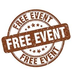 Free event brown grunge round vintage rubber stamp vector