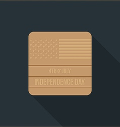 Independence day flat design icon vector