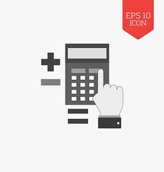 Calculation concept icon flat design gray color vector