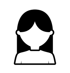 Avatar woman business people outline vector