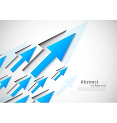 Background with blue arrows vector image