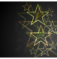 Bright abstract stars vector image vector image