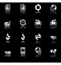 browser icon set vector image vector image