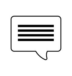 Bubble speech dialogue talk outline vector