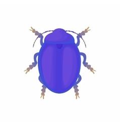 Bug icon cartoon style vector