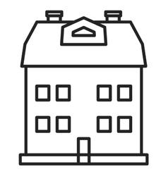 City house icon vector