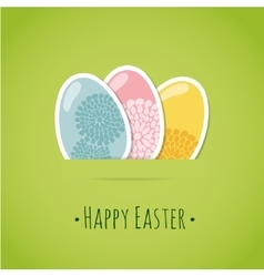 Cute easter card with painted easter eggs vector image vector image